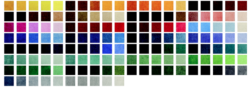 High Definition Mat Color Samples